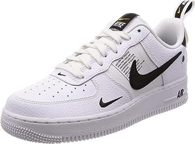 Amazon.com | Nike Men's Air Force 1 07 LV8 Utility, White/White ...