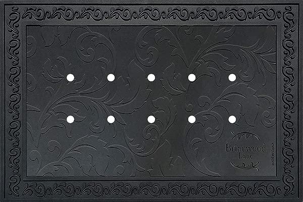 布里亚伍德巷户外橡胶门垫托盘 18x30 门垫花卉设计