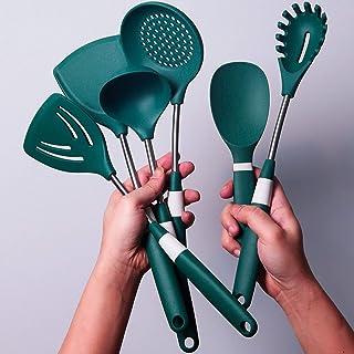 Kitchen Utensils Set,6 Pieces Kitchen Tool Set Stainless Steel Utensil,Cooking Utensils Kitchen Tools For Cooking Kitchen ...
