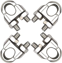"Penta Angel 3/8"" M10 Stainless Steel Wire Rope Cable Clip Clamp, 4PCS"