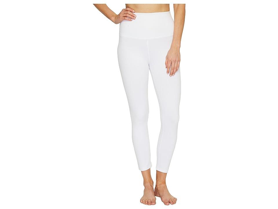 Beyond Yoga High Waist Capri Leggings (White) Women