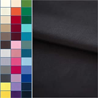 COTTONVILL Cotton Solid Quilting Fabric 3YD (Black)