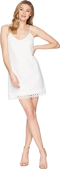 Jemma Geometric Lace Slip Dress