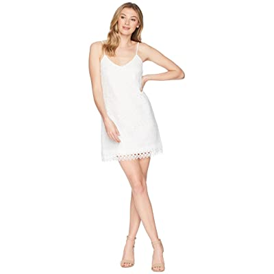 Jack by BB Dakota Jemma Geometric Lace Slip Dress (Bright White) Women