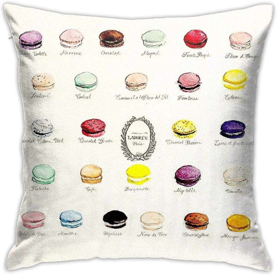 Not Applicable Laduree Macarons Flavor Menu Bedroom Sofa Decorative Cushion Throw Pillow Cover Case 18 X 18 Inch Amazon Co Uk Kitchen Home