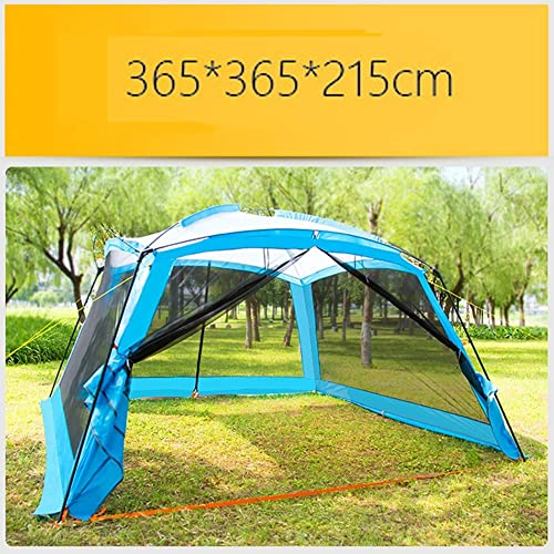 HHMGYH Pergola en Plein air Camping 8-10 Personne Barbecue Sun Shelter Portable Fold Plage auvent Tente imperméable 365  365  215CM,B