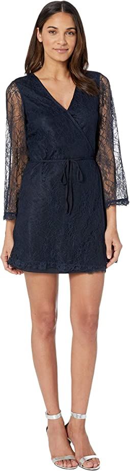 Lesley Lace Wrap Dress