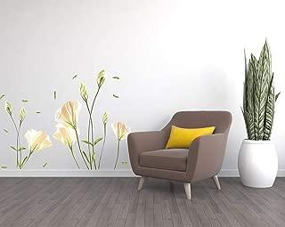 Wall Decals - Flower Wall Decals – Flower Wall Décor - White Flower Wall Decals - White Wall Decor - Wall Stickers