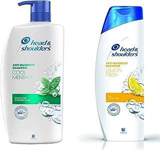 Head & Shoulders Anti-Dandruff Shampoo (Cool Menthol and Energizes Scalp) - 1L & Lemon Fresh Shampoo, 360ml Combo