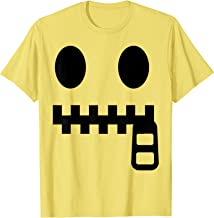 Halloween Emojis Costume Shirt Zipper Mouth Face Emoticon T-Shirt