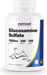 Nutricost Glucosamine Sulfate 750mg, 240 Capsules (1500mg Per Serving)
