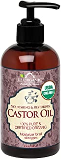 US Organic Castor Oil, USDA Certified Organic,Expeller Pressed, Hexane Free, 100% Pure & Natural moisturizing and emollien...