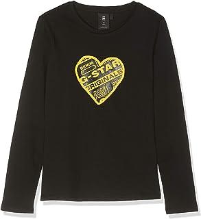 Sp10596 LS tee Camiseta de Manga Larga para Niñas