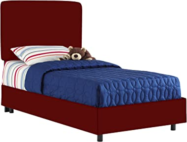 Aaron'S Full Kids Bed By Skyline Furniture In Cardinal Red Cotton