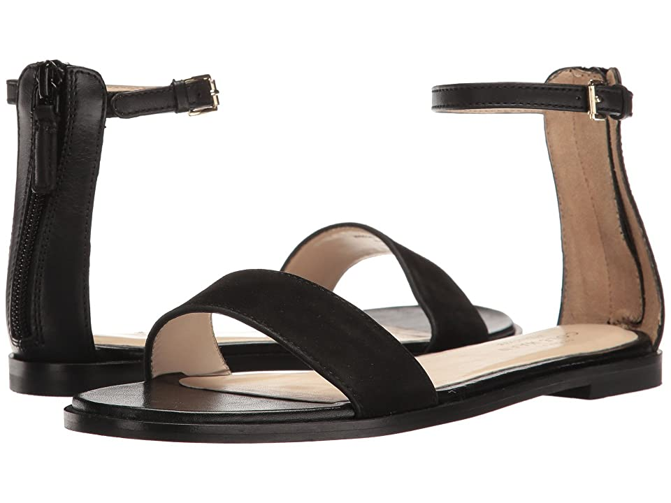 Cole Haan Bayleen Sandal II (Black Leather/Black Suede) Women