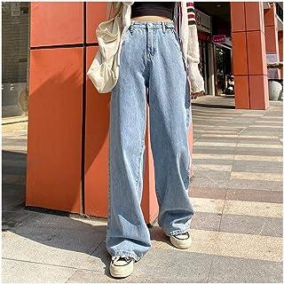 CML Mujer Jeans Cintura Alta de Ropa de Pierna Ancha con Ropa Vaquera Azul Streetwear Calidad de la Vendimia 2020 de Moda ...