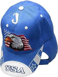 12d21c866e824 Waving USA Flag American Bald Eagle White Bill Royal Blue Embroidered Cap  Hay CAP679 (TOPW