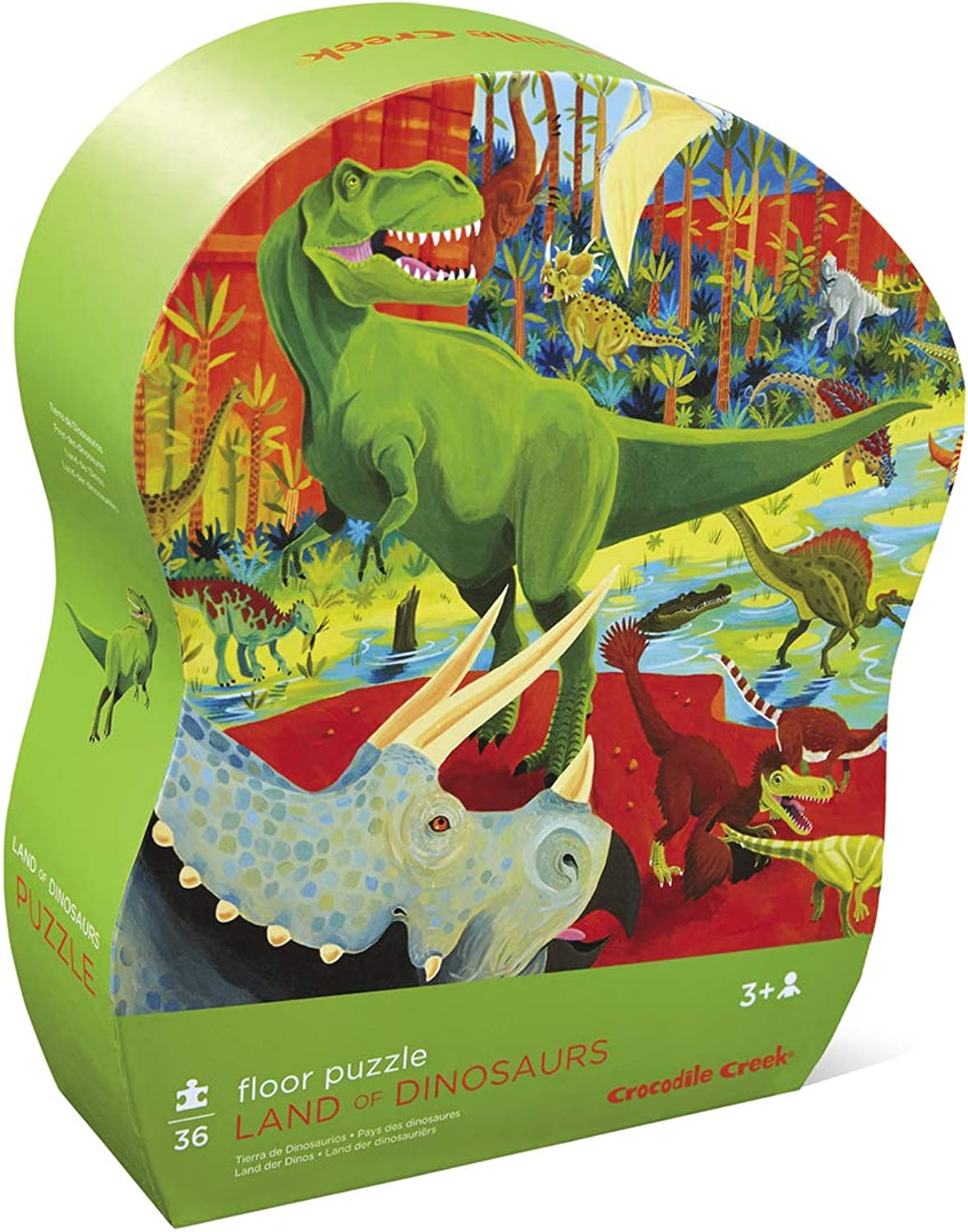 Crocodile Creek Land of Dinosaurs 36 Piece Jigsaw Floor Puzzle