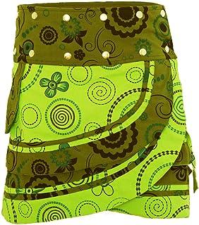 PUREWONDER Mujer Minifalda Cruzada Goa Lana S182