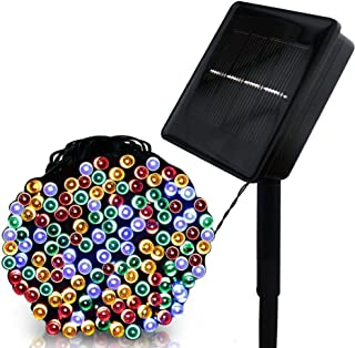 MAYSAK Solar String Lights Outdoor Waterproof 100LED 39.4ft Christmas Fairy Lights with 8 Modes Decoration Starry Light for Patio, Lawn, Landscape, Garden, Home, Wedding, Party, Xmas Tree