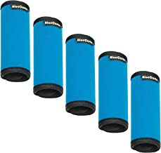 BlueCosto 5X Soft Neoprene Luggage Handle Wrap Grips Suitcase Travel Tags