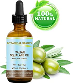 SQUALANE Italian. 100% Pure / Natural / Undiluted Oil. 100% Ultra-Pure Moisturizer for Face , Body & Hair. Reliable 24/7 skincare protection. 1 fl.oz- 30ml. by Botanical Beauty.