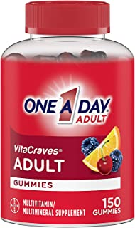 One A Day VitaCraves Adult Multivitamin Gummies, Supplement with Vitamin A, Vitamin C, Vitamin D, Vitamin E and Zinc for I...
