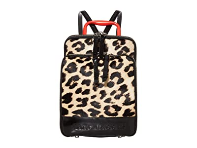 Marc Jacobs The Retro Backpack Leopard (Black Multi) Backpack Bags