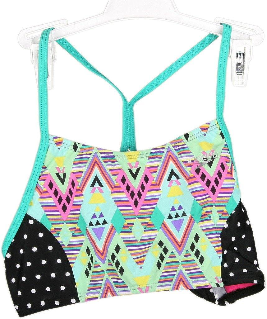 Speedo girls youth DIAMOND GEO Piece Swimsuit CAM 771476K- Super intense SALE shop Two