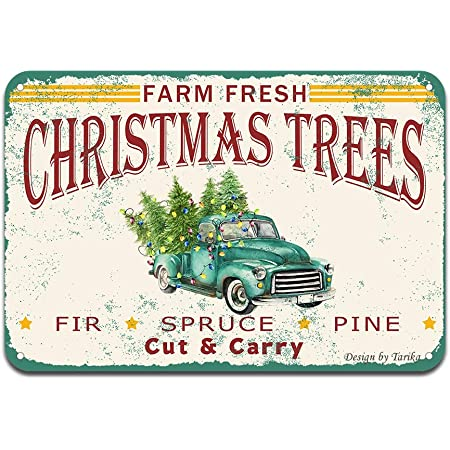 Christmas Farmhouse Enamel Sign Hanging Wall Art Red,Green,Holiday Decor Vintage
