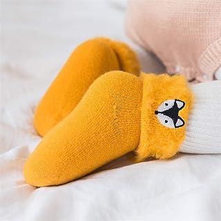 WanXingY, Niños Calcetines Sueltos Nieve Calcetines de Dibujos Animados Invierno Espesar Suave Antideslizante Piso Toddler niñas niños recién Nacido cálido Terciopelo niños