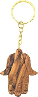 Olive Wood Olivewood Praying Hand Of Mary Key Chain Religious Gift (OW-KC-010)