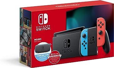 """Switch com néon azul e vermelho de néon Joy-Con - 6,2"""" touchscreen LCD, NVIDIA Tegra personalizado Processor, 32 GB de arm..."""