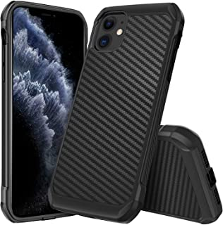 iPhone 11 Case Carbon Fiber,DUEDUE Dual Layer Slim Hybrid Shock Absorbing Cover Hard PC Bumper Rugged Back Case for iPhone 11 6.1