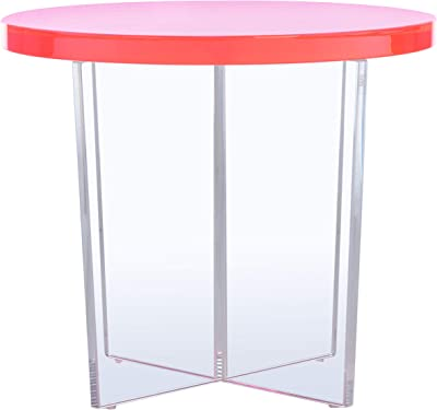 Safavieh Couture Collection Edwards Neon Pink Acrylic Accent Table