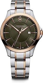 ساعة فيكتورينوكس للرجال كوارتز سويسرية وبسوار ستانلس ستيل، لون اخضر موديل 21 (241913)