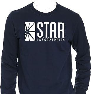 936bb2b05d4ec2 NuffSaid Star Laboratories Star Labs Long Sleeve Shirt Crew Neck S.T.A.R  Labs - Premium Quality