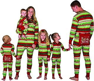 Pijamas Enteros Navidad Familia Pijama Mono Rayas Navideñas Noel Niños Hombre Mujer Niña Chica Chico Bebe Homewear Pijama Una Pieza Pijamas Entero para Toda La Familia Adulto Invierno
