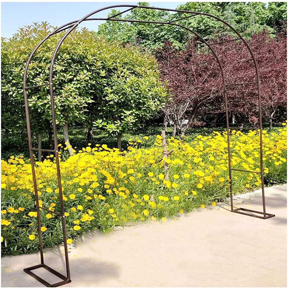 CJCJ Garden Trellis Arch Large Archway Daily bargain sale Albuquerque Mall Steel Wedding Flow Frame