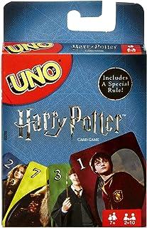 UNO Harry Potter, jeu de société et de cartes à l'effigie des héros du film, carte « Choixpeau magique » incluse, FNC42