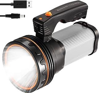 CSNDICE Rechargeable Spotlight - Large Flashlight 35W Power super bright 6600mah 8600 lumens, IPX4 Waterproof brightest fl...