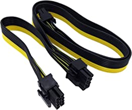 COMeap 8 Pin Male to Dual 2X 8 Pin (6+2) Male PCI Express Power Adapter Cable for EVGA Power Supply 24-inch+8-inch (62cm+21cm) (NOT Compatible with Seasonic Sentey and Corsair Power Supply)