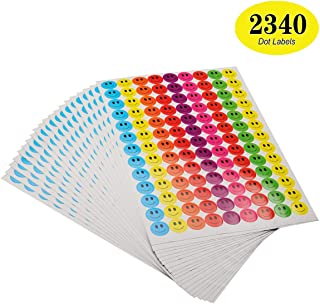 ONUPGO Pack of 2340 Smiley Face Stickers Happy Face Incentive Stickers Circle Dots Labels, 19mm Round Behavior Sticker Circle Teacher Labels, Great for Teachers, Parents, Arts, Crafts, Reward Charts
