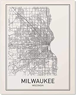 Milwaukee Poster, Map of Milwaukee, Milwaukee Map, City Map Posters, Modern Map Art, City Prints, Milwaukee Art, Minimal Print, Wisconsin Map, City Poster, City Map Wall Art, Minimalist Posters, 8x10