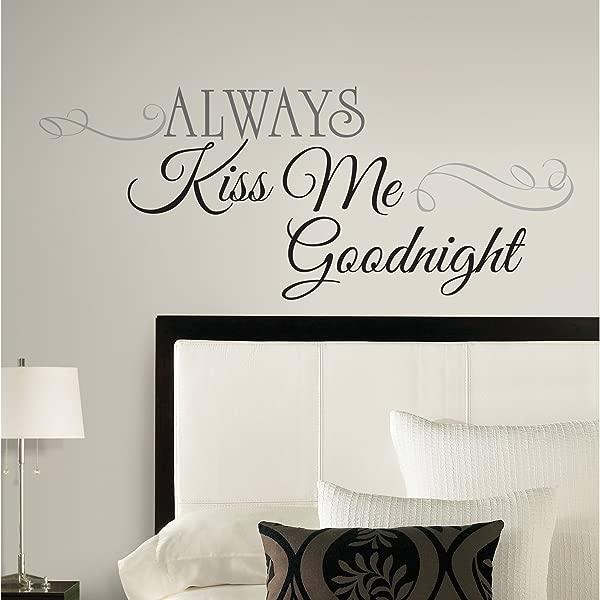 室友们总是吻我晚安引用剥离和粘贴墙贴花