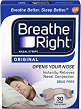 Breathe Right Nasal Strips to Stop Snoring, Drug-Free, Original Tan Large