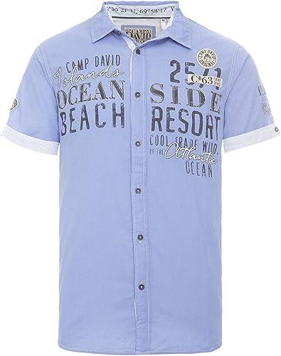 Camp David 1 2 Hemd CCB-1902-5340 SEA Blau Island Escape
