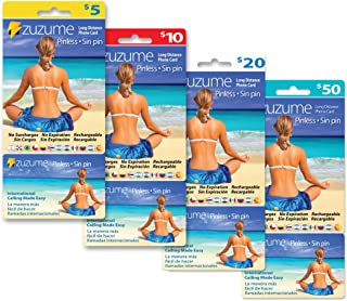 $10 Zuzume Prepaid Phone Calling Card - Save Big on International & Domestic Long Distance Calls