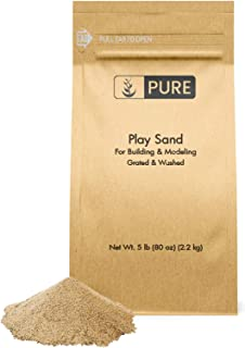 Play Sand (5 lb) by Pure Organic Ingredients, Eco-Friendly Packaging,, Building & Molding, Promotes Creativity, Sandbox & Play Areas, Indoor/Outdoor