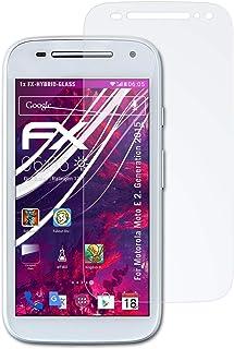 atFoliX Plastglasskyddsfilm är kompatibel med Motorola Moto E 2. Generation 2015 Glasskydd, 9H hybridglas FX Skyddsglas av...